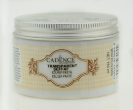 Cadence Transparante Relief Pasta 01 090 0001 0150 150 ml