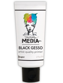 DINA MEDIA MEDIUMS - BLACK GESSO 2OZ TUBE MDM41702