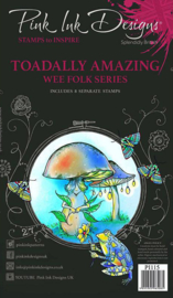 Pink Ink Designs Toadally Amazing A6 Clear Stamp PI115