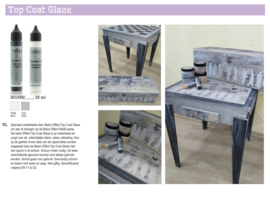 Cadence Top Coat Glaze - voor Beton effect