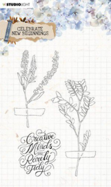 Studio Light Clear Stamp Celebrate new beginnings nr.515 STAMPCNB515 A5