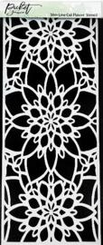 Picket Fence Studios Slim Line Cut Flower 4x10 Inch Stencil (SC-237)