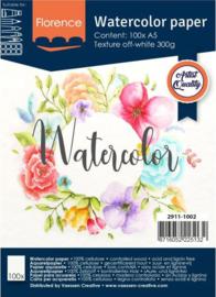 Vaessen Creative Florence • Aquarelpapier texture 300g. A5 100pcs  2911-1002