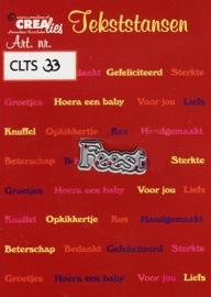 Crealies Tekststans - feest CLTS33