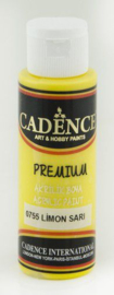 Cadence Premium acrylverf (semi mat) Citroen geel 01 003 0755 0070 70 ml