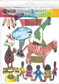 Ranger Dylusions Collage Sheet - no.4 DYA76377