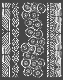 Stamperia Thick Stencil 20x25 cm Amazonia Tribals (KSTD063)