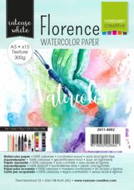 Florence • Aquarel papier texture Intense White A5 15pcs 2911/4002