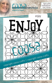 COOSA Crafts • Clear stempel #15 Achtergrond enjoy COC-091