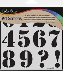 Clearsnap - ColorBox Screens - Numeric 15 x 15 cm