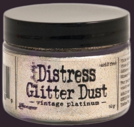 Tim Holtz - Distress - Glitter Dust - Vintage Platinum TDR49753