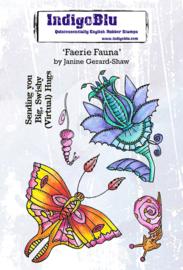 IndigoBlu Faerie Fauna A6 Rubber Stamps (IND0730)