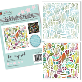 Polkadoodles Park Life 6x6 Inch Stencil (PD8099A)
