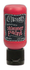 Ranger Dylusions Shimmer Paint Flip Cap Bottle - Postbox Red DYU74458