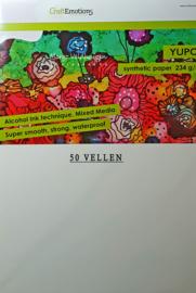 CraftEmotions Synthetisch papier - Yupo wit 50 vl A4 - BLUE 234 gr