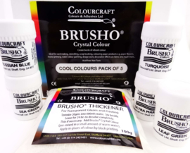 Brusho Cool Colours Pack - 5 x 15g