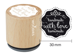 Woodies Handmade With Love Homemade Rubber Stamp (WE5006)