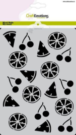 CraftEmotions Mask stencil Summer Fun - fruit A5 Carla Creaties