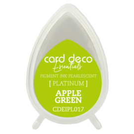 Card Deco Essentials Fast-Drying Pigment Ink Pearlescent Apple Green  CDEIPL017