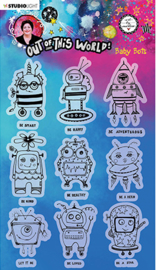ABM-OOTW-STAMP74 ABM Clear Stamp Baby Bots Out Of This World nr.74