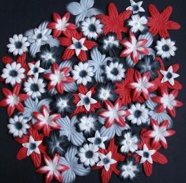 Flower 60 rood/zwart