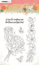 Studio Light Clear Stamp Say it with flowers nr.524 SL-SWF-STAMP524 A6