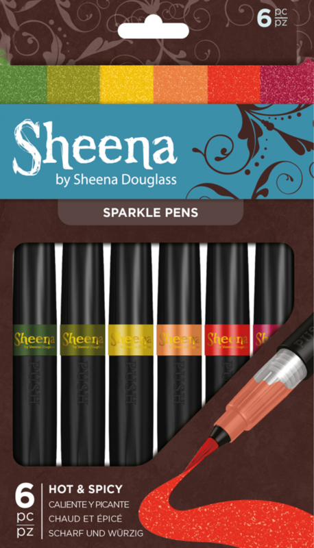 Sheena Douglass Sparkle pens 6hp - Hot and Spicy