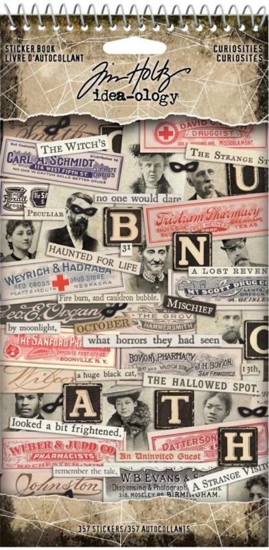 Idea-ology Tim Holtz Sticker Book Curiosities (TH94059)