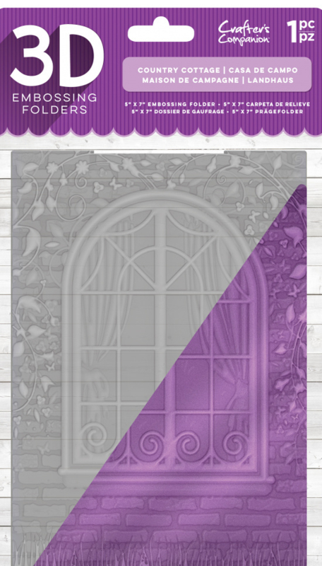 """Crafter's Companion 5 """"x7"""" 3D embossing folder - Country Cottage"""