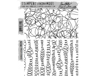Stampers Anonymous - Tim Holtz - Scribbles & Spirals Stamp Set