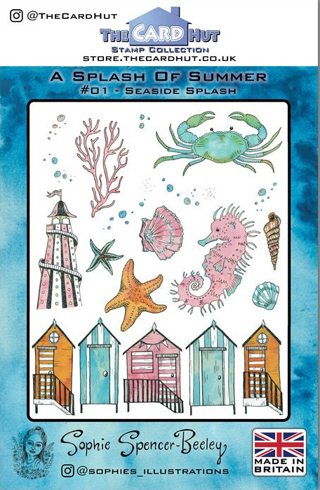 The Card Hut Seaside Splash Clear Stamps (SSB001)