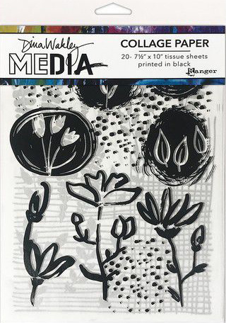 Dina Wakley MEdia Collage Paper - Things That Grow MDA77893 Dina Wakley