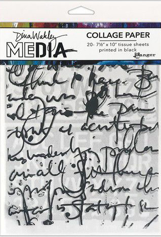 Dina Wakley MEdia Collage Paper - Text collage MDA77886 Dina Wakley
