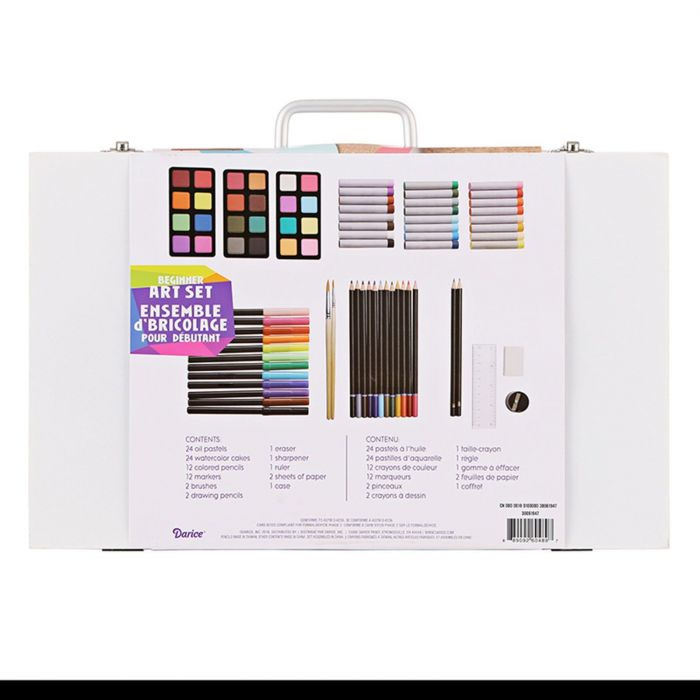 Studio 71 • Kids art set wooden case 82pcs assorted