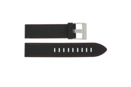 Horlogeband Universeel XH19 Silicoon Zwart 22mm-KR16