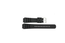 Horlogeband Universeel XF11 Kunststof/Plastic Zwart 18mm-KR23