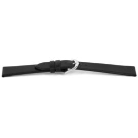 Horlogeband Universeel G154 Leder Zwart 20mm-K204