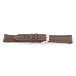 Horlogeband Universeel F372 Leder Bruin 18mm-K166