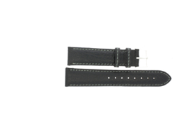 Horlogeband Universeel P354R.01 Leder Zwart 20mm