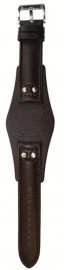 Onderliggende horlogeband donker bruin 22mm CH-2565