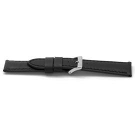 Horlogeband Universeel I122 Leder Zwart 24mm-K279