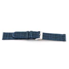 Horlogeband Universeel C600 Leder Blauw 12mm-K34
