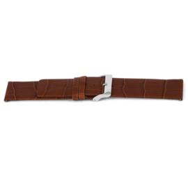Horlogeband Universeel G345 Leder Cognac bruin 20mm-LK19