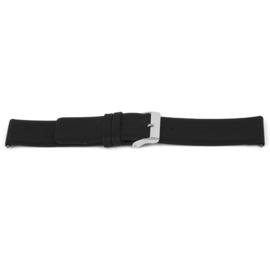 Horlogeband Universeel J105 Leder Zwart 26mm