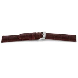 Horlogeband Universeel C340 Leder Bruin 12mm-K24