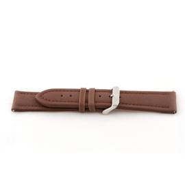 Horlogeband Universeel I370 Leder Bruin 24mm-K295