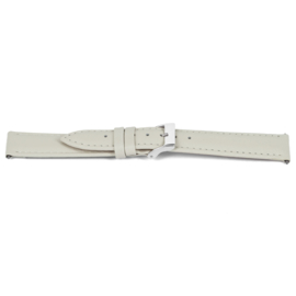 Horlogeband Universeel C514 Leder Beige 12mm-K33