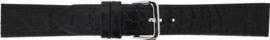 Horlogeband Universeel 882.01 Leder Zwart 14mm LK102