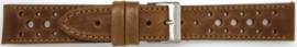 Horlogeband Universeel 828.03 Leder Bruin 20mm