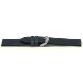 Horlogeband Universeel I629 Leder Blauw 24mm-K306